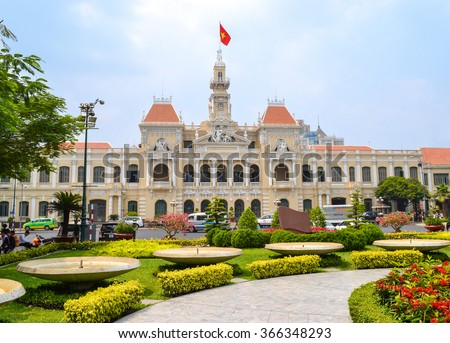 HO CHI MINH CITY, VIETNAM- MARCH 7, 2013 : Ho Chi Minh City Hall
