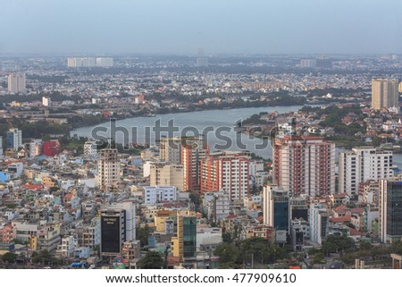 HO CHI MINH CITY, VIETNAM - MAY 12, 2016: Ho Chi Minh City view