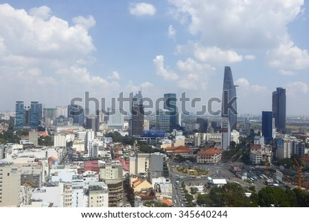 HO CHI MINH CITY, VIETNAM - November 15, 2015:  the largest city in Vietnam.