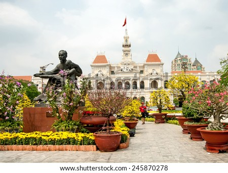 HO CHI MINH CYTY,Vietnam, January 12, 2015: Committee of Ho Chi Minh City. on june,  in, Sai Gon, Ho Chi Minh Cyti Vietnam. - stock photo