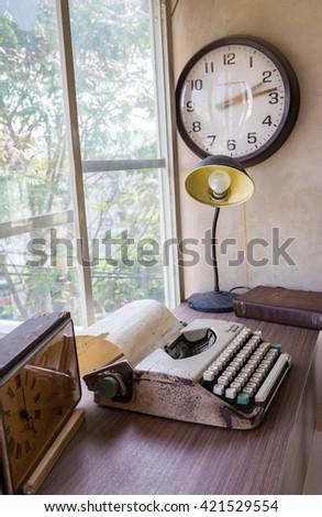 Ho Chi Minh, Vietnam - April 16, 2015: Interior design for a corner of study room. - stock photo