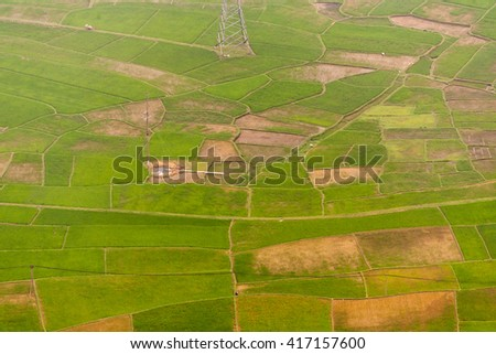 HOA BINH, Vietnam, February 16, 2016 Mai Chau Town, Hoa Binh Province, Vietnam.Hoa Binh is a biggest rice stock in north Vietnam