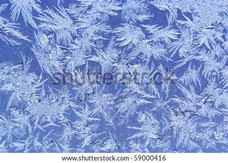 hoar-frost background