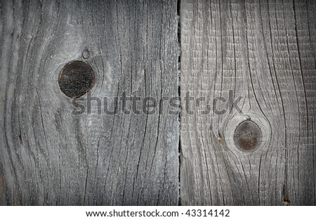 Hoar wood wall of old barn. Closeup