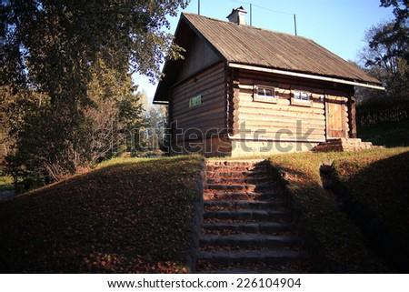 hobbit house grotto fall - stock photo