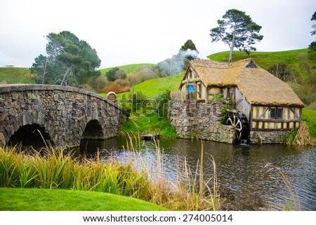 Hobbit Village - stock photo
