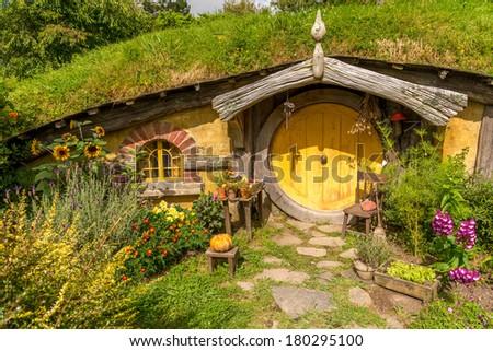 Hobbiton, Matamata, North Island - New Zealand - stock photo