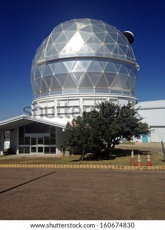 Hobby-Eberly Telescope at the McDonald Observatory in Texas - stock photo