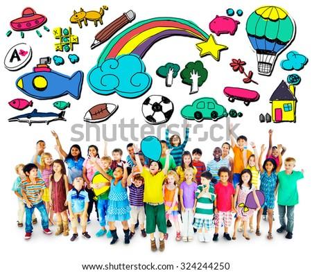 Hobby Fun Creativity Activity Inspiration Concept - stock photo
