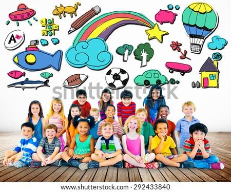 Hobby Imagination Fun Creativity Activity Inspiration Concept - stock photo