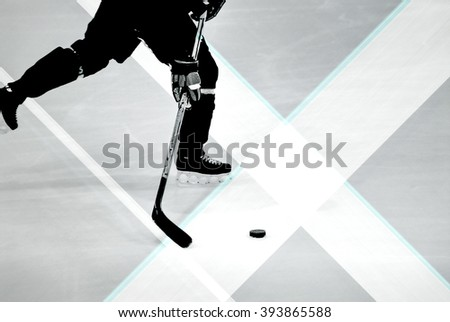 Hockey, Graphics - stock photo