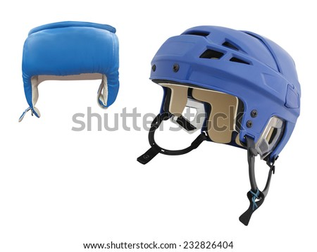 hockey helmet under the white background