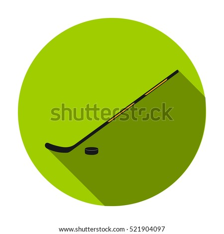 Hockey icon in flat style isolated on white background. Sport and fitness symbol stock bitmap illustration.