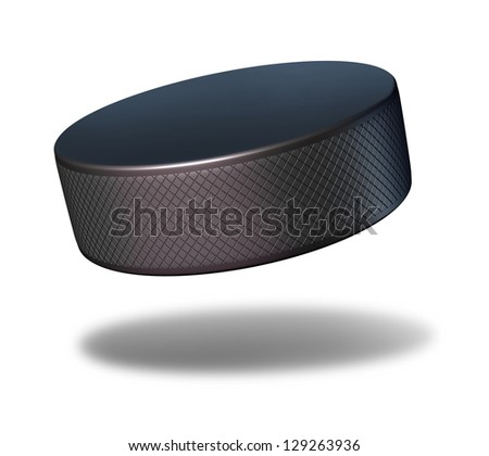 Hockey Puck Sport Equipment Flying Mid Stock Illustration 129263936