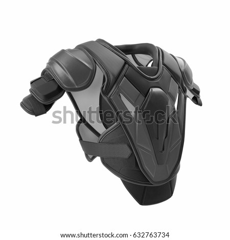 Hockey Shoulder Pads on white. 3D illustration