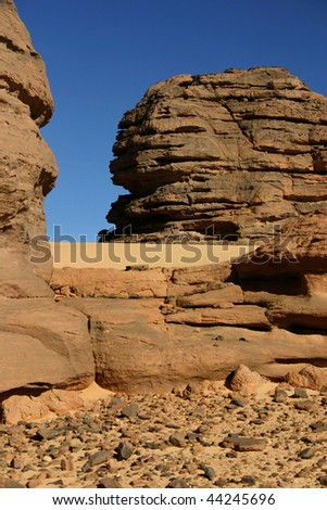 Hoggar Tassili, Sahara desert, South of Algeria