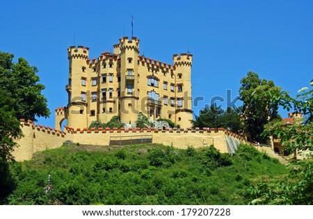 Hohenschwangau Castle, Bavaria, Germany - stock photo