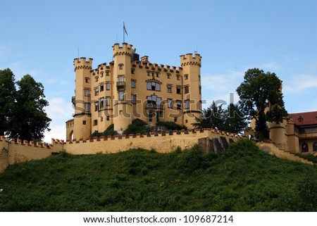 Hohenschwangau Castle in the Bavarian Alps of Germany