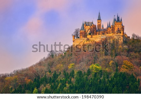 Hohenzollern castle, Germany - stock photo