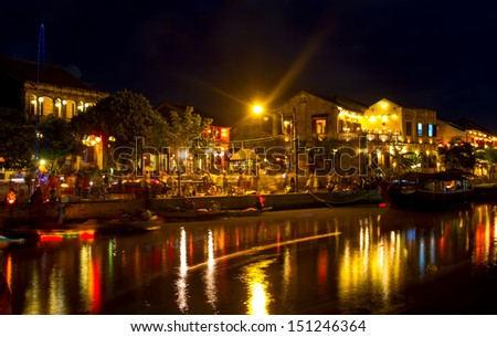 Hoi An ancient town at night - stock photo