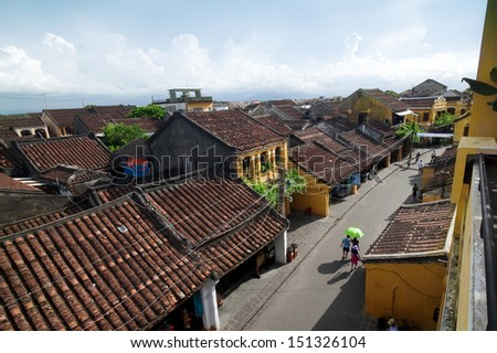 Hoi An ancient Town, Vietnam under the afternoon sun. Hoi An is recognized as a world cultural heritage 1999 - stock photo