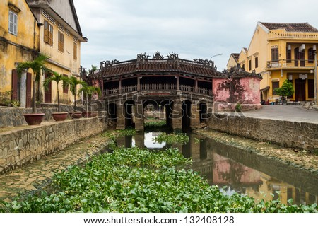 Hoi An Town - Japanese Bridge - stock photo