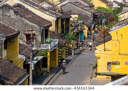 Hoi An, Vietnam - 11 Apr 2016: Hoi An, a UNESCO World Heritage site, is a major touristic destination in Central Vietnam.