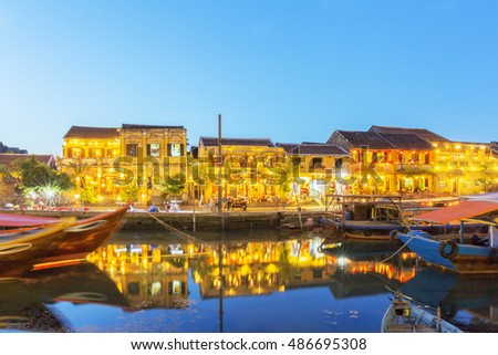 HOI AN, VIETNAM - JULY 17, 2015:Hoi An old town. Hoi An is a popular tourist destination of Asia.