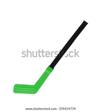 Hokey stick on the white background - stock photo