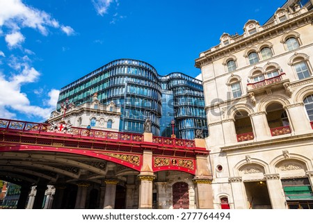 Holborn Viaduct, a road bridge in the city centre of London - stock photo