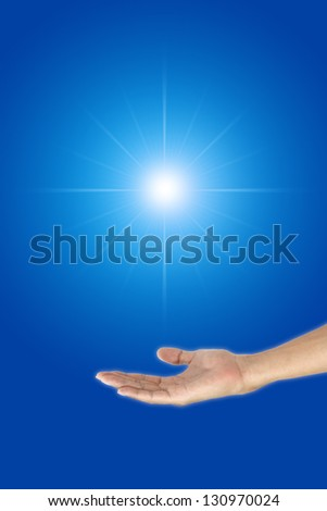 Hold bright opportunity in the dark. - stock photo