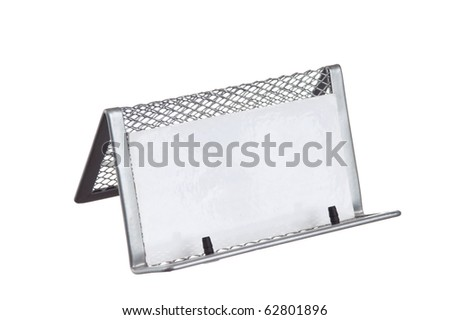 holder for business cards  isolated on white background