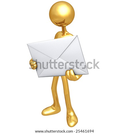 Holding A Letter - stock photo