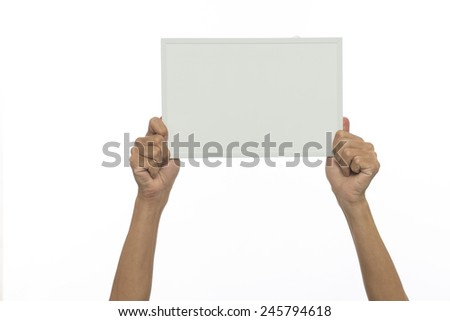 Holding a plank on a white background - stock photo
