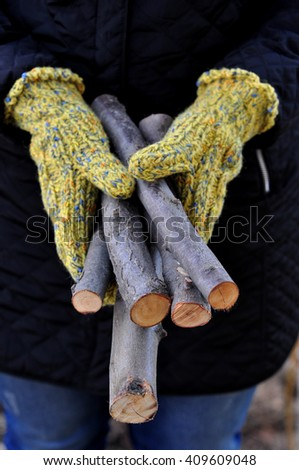 Holding firewood
