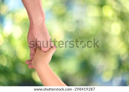 Holding Hands, Father, Parent.