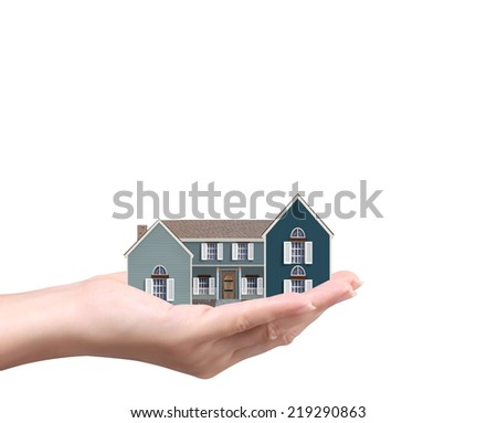 holding house representing home ownership ,the Real Estate business
