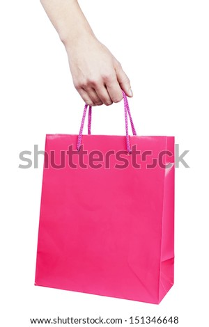 holding the bag - stock photo