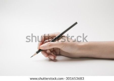 Holding the pencil
