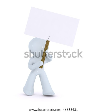 holding up a picket sign - stock photo