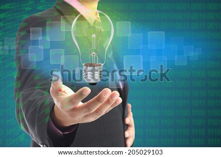 Holding your digital idea with your hand