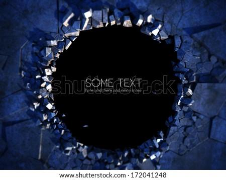 hole in the floor - illustration - stock photo