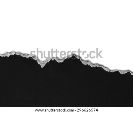 Hole Ripped black and white paper - stock photo