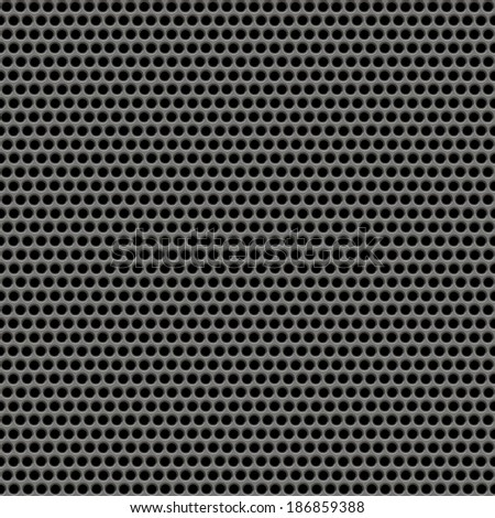 Holes metal plate seamless texture background.