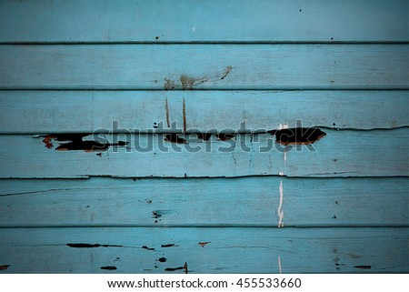 Holes on wood texture background old pale scratched panels - stock photo