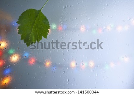 Holiday and rain. - stock photo