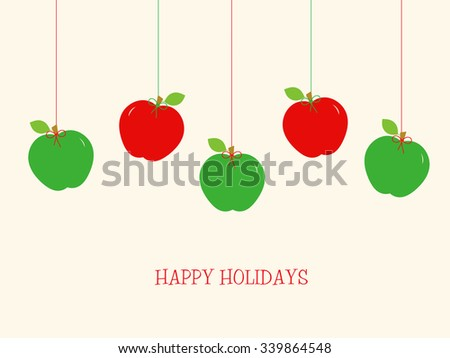 Holiday Apples - stock photo