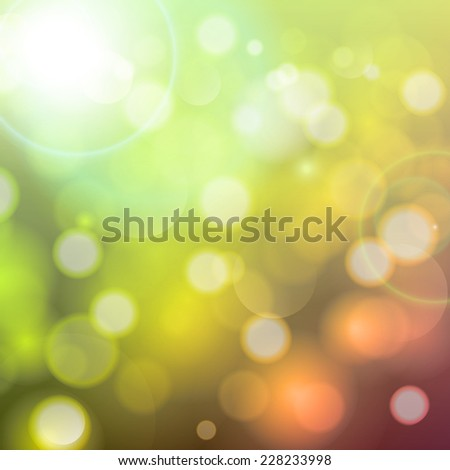 Holiday background with festive descending lights and bokeh.