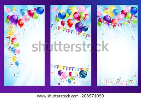 Holiday banners. Raster version - stock photo