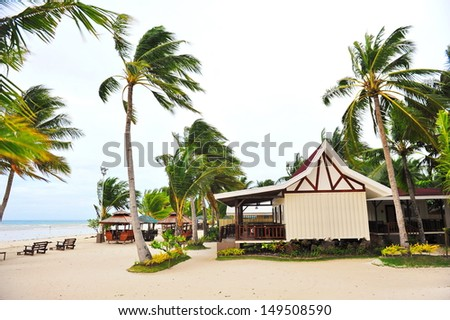 Holiday beach resort on Bantayan Island, Philippines